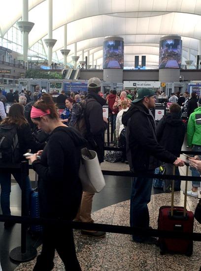 Airport Security Line Colorado