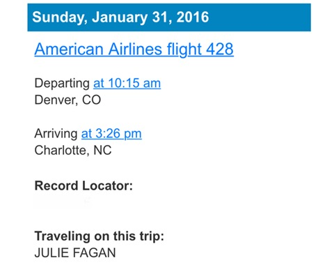 American Airlines Confirmation