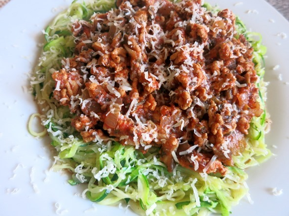 Crock Pot Turkey Bolognese and Zucchini Noodles Recipe
