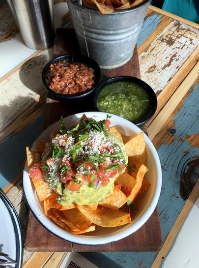Dos Santos chips and guacamole