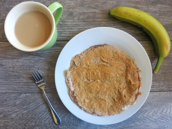 Egg White Oatmeal Pancake Breakfast