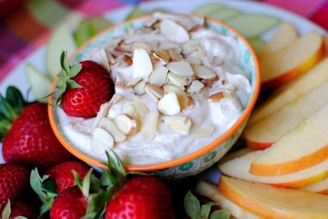 mulberry fruit healthy yogurt dip for fruit