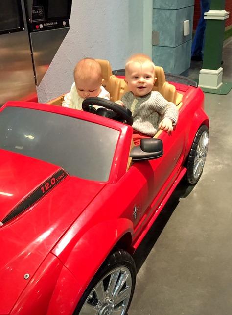 Babies in Convertible