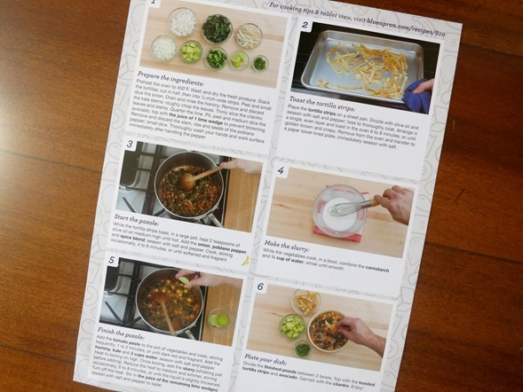 Blue Apron Recipe Instructions