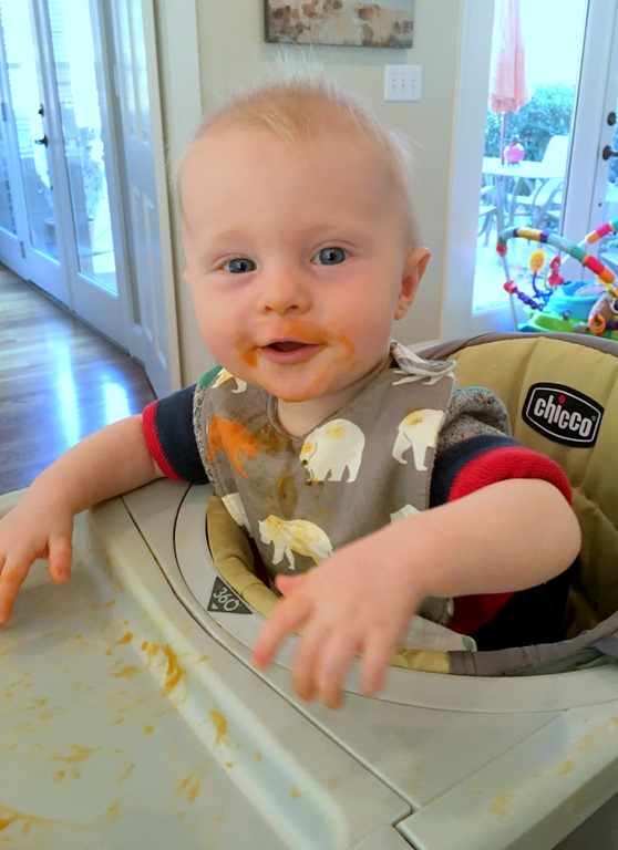 Month Baby Spits Out Food From Spoon