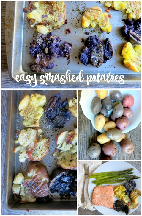 Easy Smashed Potatoes Recipe - Only five simple ingredients and no peeling or chopping required!