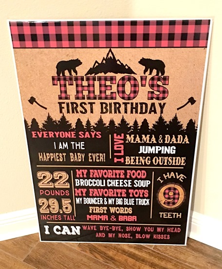 First Birthday Sign