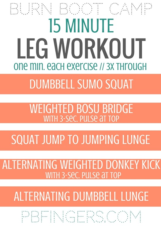 15 minute leg workout from burn boot camp