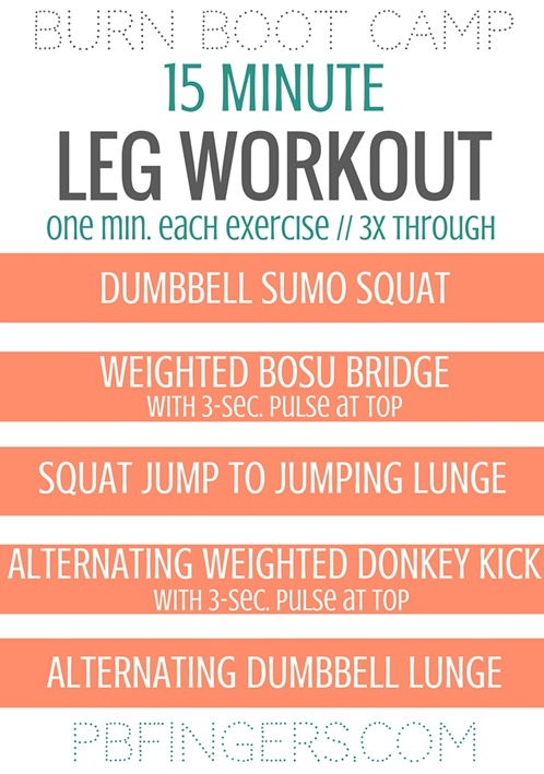 LEG WORKOUT - 15 Minute Circuit