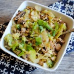 One Pot Chicken Cabbage Bowl with Ginger Seseame Soy Broth