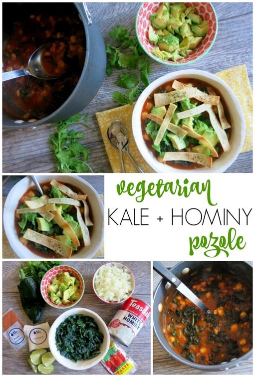 Vegetarian Kale Hominy Stew