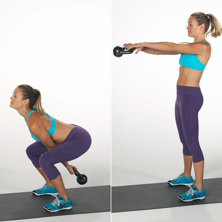 20 Minute Full Body Kettlebell Shred: 20 Minute Total Body Workout
