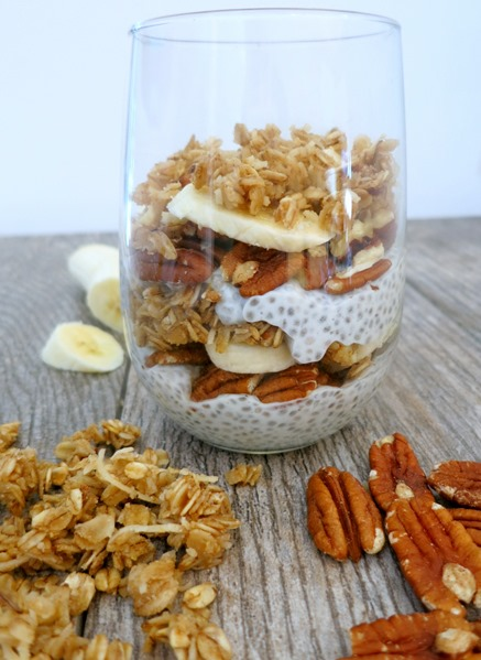 Banana Nut Chia Seed Pudding Parfait