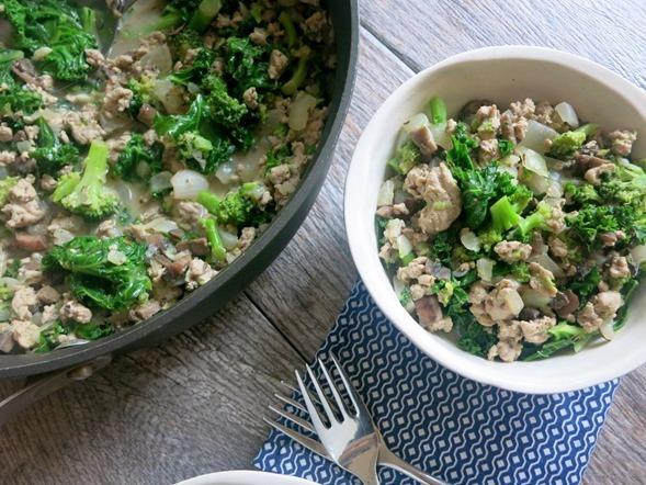 Easy Paleo Turkey Kale Skillet Recipe