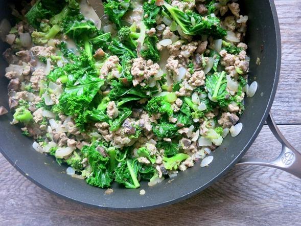Kale and Turkey Skillet