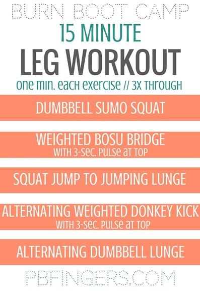 LEG WORKOUT - 15 Minute Circuit