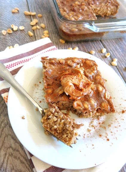 Peanut Butter Crunch Baked Oatmeal Recipe