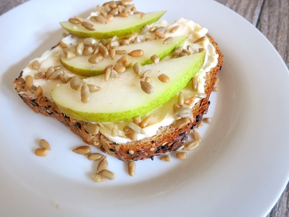 Pear Sunflower Seed Toast