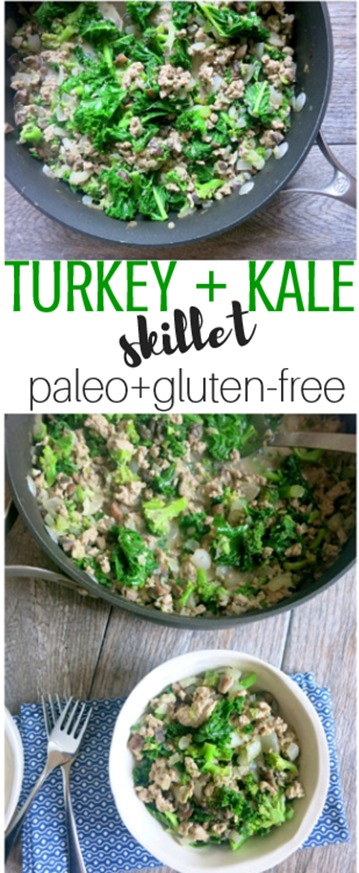 Turkey Kale Skillet - Paleo, Gluten-Free, Whole30