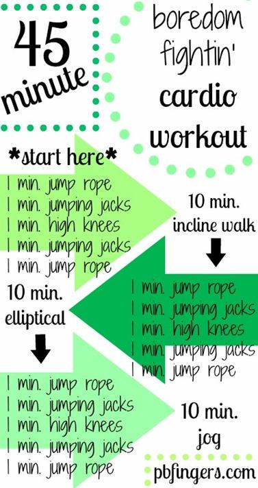 45 Minute Boredom Fightin' Cardio Workout