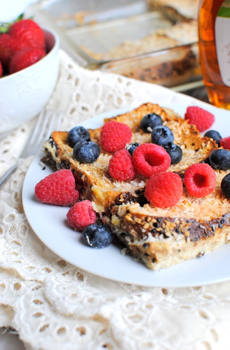 Easy Overnight Coconut French Toast Casserole