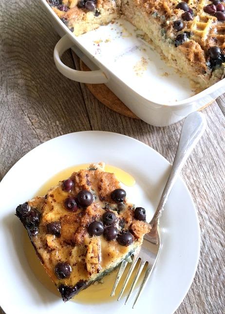 Gluten Free Blueberry Breakfast Casserole