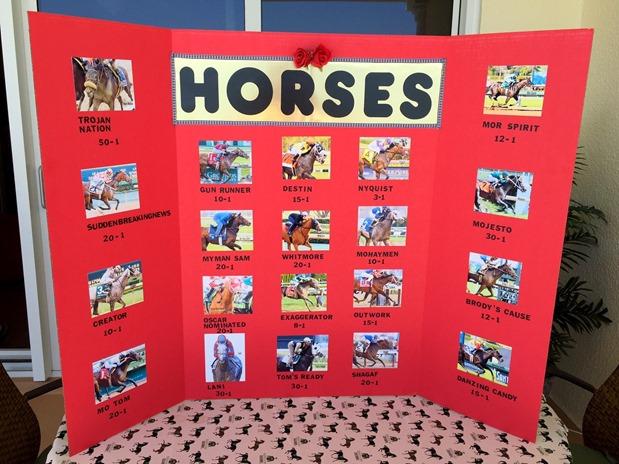 Kentucky Derby Horse Board