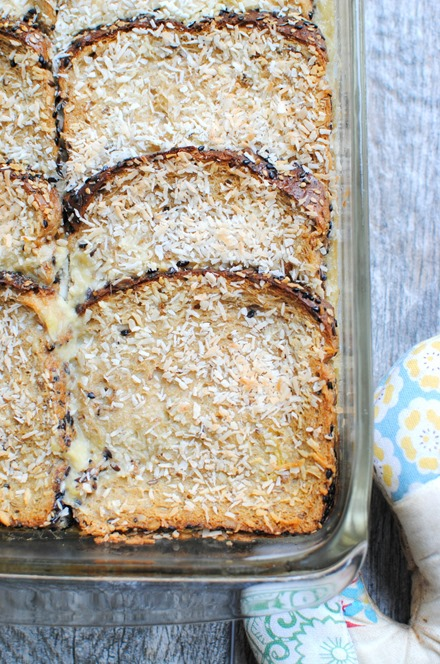 Light Coconut French Toast Casserole