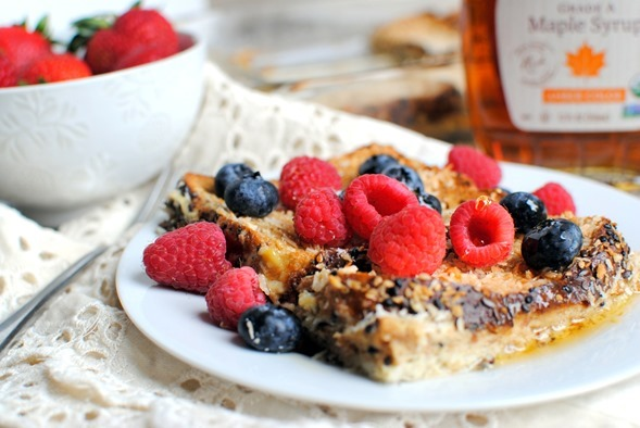 Overnight Coconut French Toast Casserole