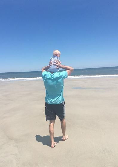 Ryan and Chase at Beach