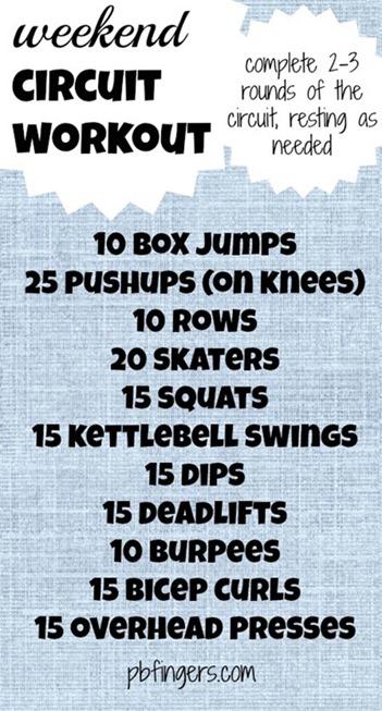 Weekend Circuit Workout