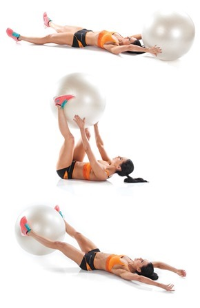 stability ball pass through