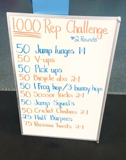 1000 Rep Workout (Plyo   Core Workout)