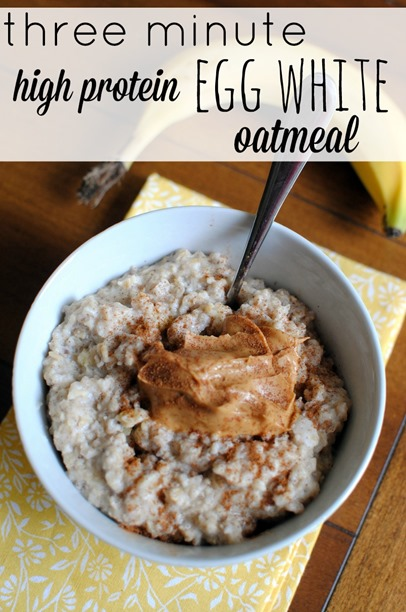 Three Minute High Protein Egg White Oatmeal Recipe