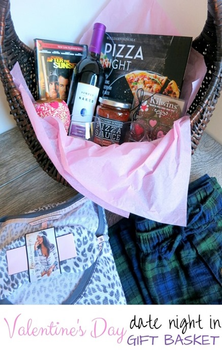 Valentine's Day Date Night In Gift Basket