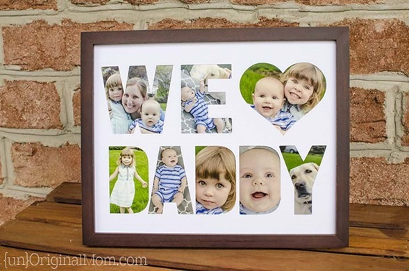 We Heart Daddy Cut Out Frame