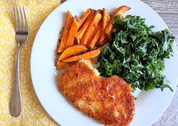 Blue Apron Chicken Kale and Sweet Potatoes