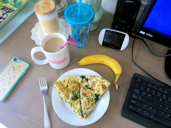 Breakfast Frittata and Banana
