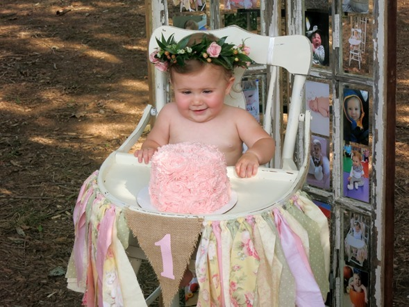 Smash Cake and Flower Crown First Birthday