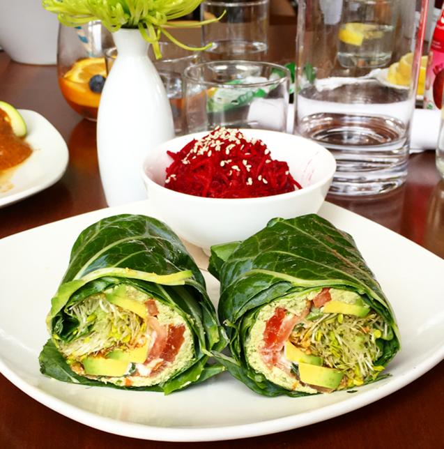 living kitchen avocado basil wrap