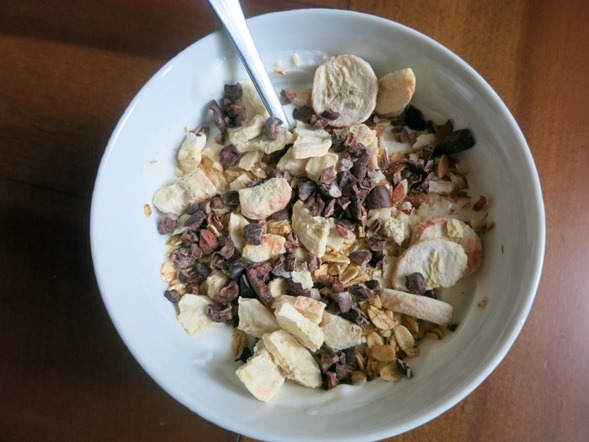 yogurt with bananas and cacao