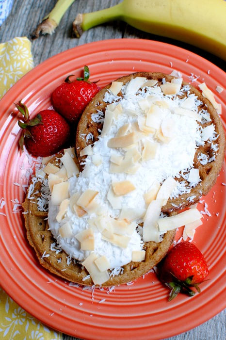 Coconut Cream Waffles
