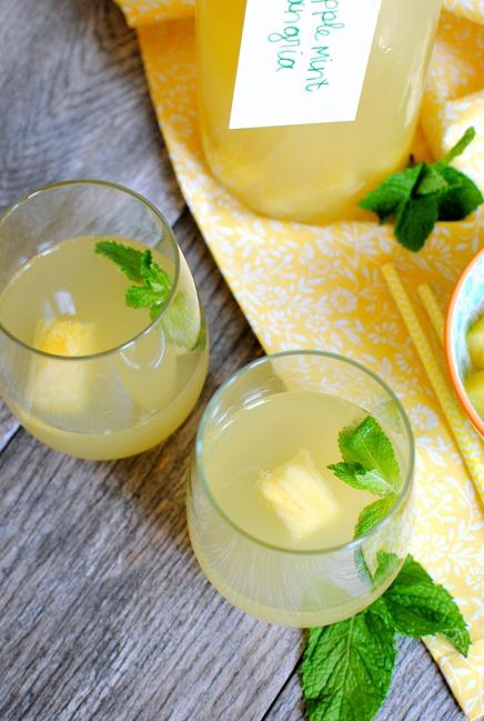 Pineapple Mint Sangria Recipe