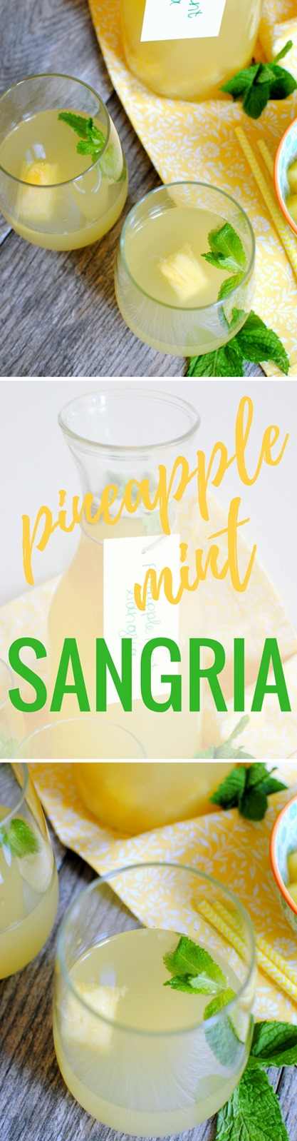 Pineapple Mint Sangria