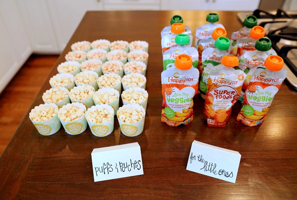Puffs and Pouches for First Birthday Party