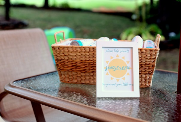 Sunscreen for Little Ones Birthday Party