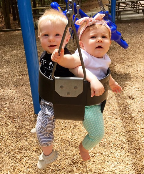 Babies in Swings
