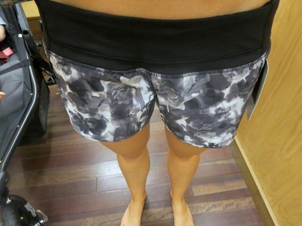 lululemon flower print shorts