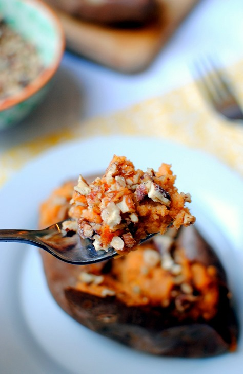 Maple Cinnamon Twice Baked Sweet otatoes Recipe