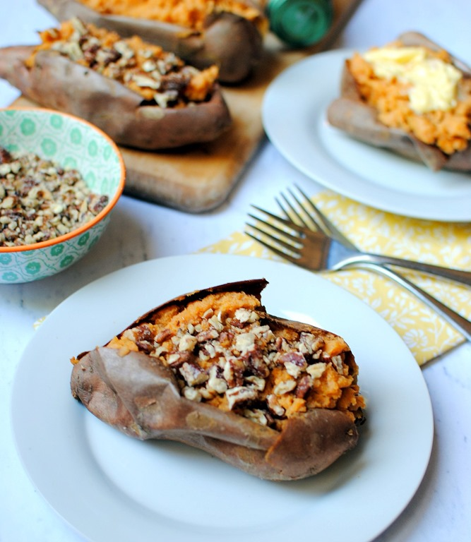 how to make baked sweet potatoes